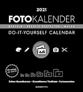 Foto-Bastelkalender schwarz XL 2021