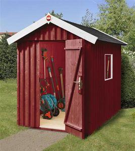 Weka Gerätehaus 16 mm Schwedenhaus 348 Gr. 2 rot 200x286cm