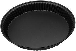 Zenker Quicheform ø28 cm PURE, Tarte- und Obstkuchenform, Tortenbodenform (Farbe: schwarz), Menge: 1 Stück