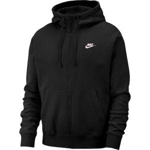 Nike M Nsw Club Hoodie Fz Bb Black/Black/White L