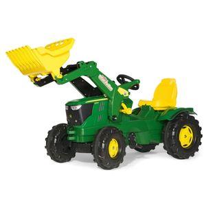 rolly toys Farmtrac John Deere 6210R Trettraktor mit Trac Lader , Maße: 142x53x81 cm; 61 109 6