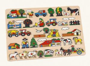 """Bino 88073 Riesen Setzpuzzle """"Maxi Bauernhof """" Steckspiel 45x35 cm"""