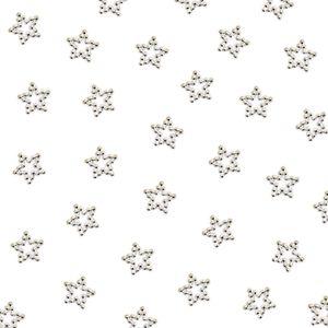 Oblique Unique 50 Perlen Sterne Tischdeko für Geburtstag Party Weihnachten Basteln - silber