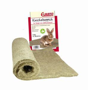 Elmato 12836 Nagerteppich Hanfmatte aus 100% Naturhanf für Nager, 150x80cm Einstreu-Ersatz, Stärke 10mm