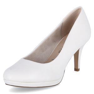 Tamaris Damen High Heels Pumps 1-22444-26 Weiß 140 White Matt Kunstleder mit TOUCH-IT, Groesse:39 EU
