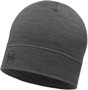 Buff Lightweight Merino Wool Mütze solid grey