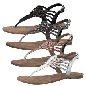 Tamaris 1-28151-24 Damen Zehensteg Sandalen Sandaletten Leder, Größe:38 EU, Farbe:Rosa