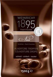Weinrichs Backdeko Zartbitterschokolade Tropfen Kuvertüre 1500g