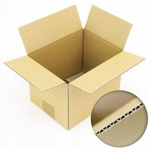 50 x Faltkartons aus Wellpappe - Faltkartons Faltschachtel 250 x 150 x 150
