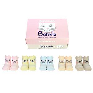 Katze Bonnie Cucamelon Socken für Babys (5 Paar)