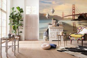 "Komar Vlies Fototapete ""Golden Gate"", braun, 368 x 248 cm"