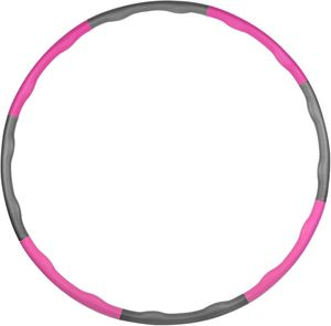Hula-Hoop-Reifen Fitness Gewichtsreduktion Reifen mit Schaumstoff Einstellbares Gewicht Pink+Grau