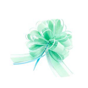 Oblique Unique Geschenkschleife Deko Schleife für Geschenke Tüten Zuckertüte Weihnachten Geschenkdeko - türkis