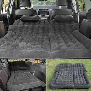 Aufblasbare Matratze Doppel Bett Luftmatratze mit Luftpumpe und 2Kissen für KFZ Auto SUV Rücksitz