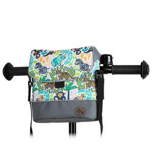 BAMBINIWELT Lenkertasche Tasche für Puky für Woom Laufrad Räder Roller Fahrrad Fahrradtasche für Kinder wasserabweisend mit Schultergurt, Modell 21