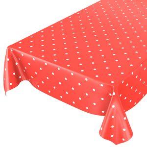 Punkte Tupfen Dots Rot 160x140cm Wachstuch Tischdecke