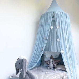 Kid Baby Bett Baldachin Bettdecke Moskitonetz Vorhang Bettw?sche Runde Kuppel Zelt Baumwolle