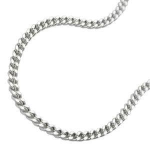 Bauchkette Hüftkette Flachpanzerkette 2 x diamantiert 925 Silber 90 cm 2 mm inklusive kleiner Schmuckbox