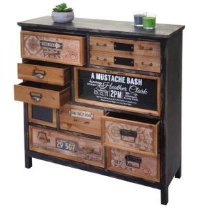 Apotheker-Schrank MCW-A43, Kommode, Tanne Holz massiv Vintage Shabby-Look 90x90x32cm