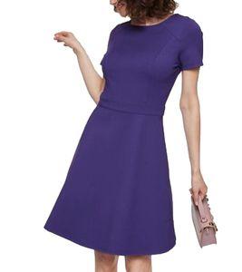 GUIDO MARIA KRETSCHMER Designer-Kleid schickes Damen Mini-Kleid mit weitem Rock Violett, Größe:38