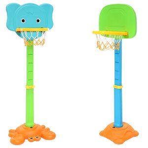 CLAMARO Basketballständer Basketballkorb inkl. Ball und Pumpe, Kinder Garten, Freizeit, Spiel, Spaß, Basketballständer:mit Ring Halter