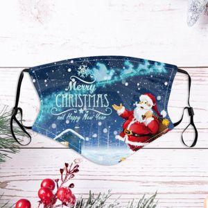 4 stk Erwachsene Gesichtsmaske Kann Filter setzen Weihnachten Baumwolle Mundschutz Schutzmaske