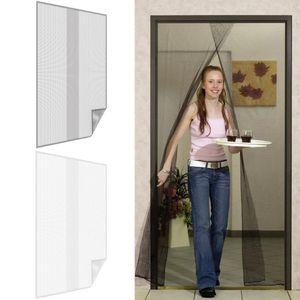 Fliegengitter aus Polyester für Türen, Farbe:Anthrazit, Größe:140 x 220 cm