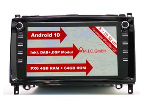 "M.I.C. AB8 Android 10 Autoradio mit navi tuning für mercedes benz A-Klasse W169 B-Klasse W245 Viano Vito W639 Sprinter VW Crafter : DAB plus Bluetooth 5.0 WIFI 2din 8"" Bildschirm USB Rückfahrkamera"