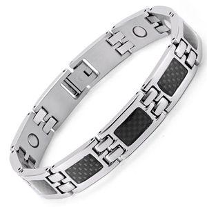 Edelstahl Magnet Germanium Armband Männer