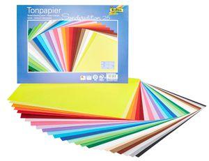 folia Tonpapier farbsortiert 130 g/qm