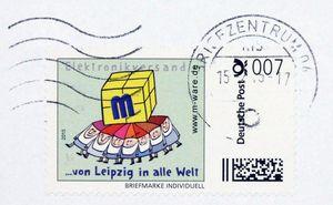 FDC mit 7-Cent-Marke, 15.02.2015, Stempel Leipzig 1000 M-ware® ID15693