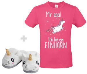 Einhorn Set Unisex Pink, Größe wählen:M, Schuhgröße wählen:36/37