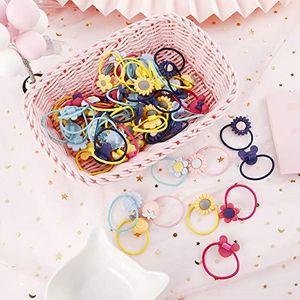 Baby Mädchen Haargummis , 40 Stücke Kopf Haargummi Bands Seile,Niedliche Bunte Elastische Haarbänder Schnüre