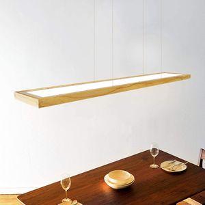 ZMH LED Hängeleuchte esstisch Pendelleuchte Holz rustikal dimmbar 40W mit den Fernbedienung