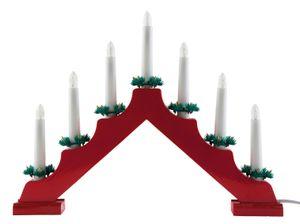 Adventsleuchter / Adventsbogen / Lichterbogen / mit 7 Lichter / Farbe: rot