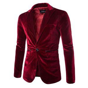 Herrenmode Pure Cord Casual Casual-Anzugmantel mit einem Knopf Größe:XL,Farbe:Kupfer