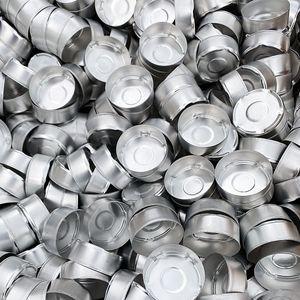 1000 Stk Teelichthüllen Teelichter 37,5mm x 15mm Aluminium Teelichtdose 1212