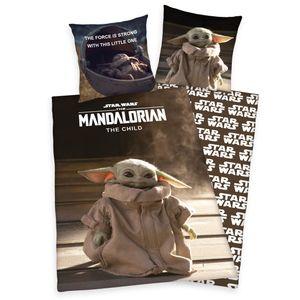 Star Wars Mandalorian Bettwäsche, 100% Baumwolle ( Renforcé ), 80x80 + 135x200 cm