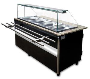 Salattheke 2x 1/1 GN, 1x 2/4 GN, 1000x800x1250mm