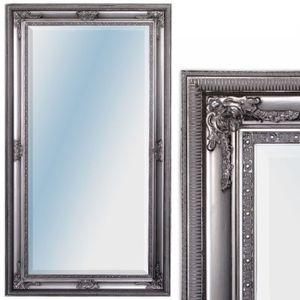 Wandspiegel EVE 180x100cm Barock Spiegel Antik-Silber