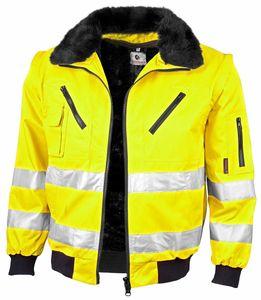 """Qualitex Pilotenjacke """"signal"""" Unisex 61931b warngelb 3XL Arbeitsjacke, Bundjacke Handwerker, Heimwerker, Outdoor, Strassenarbeiter"""