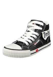British Knights Roco B46-3706-03 Damen Sneaker High Kunstleder Schwarz Black White, Groesse:38 EU
