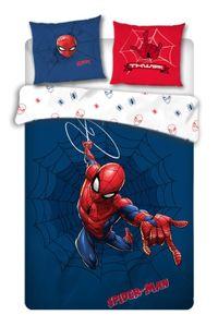 Spiderman Wende Bettwäsche Set · 135x200 80x80 · 100% Baumwolle · Kinderbettwäsche für Mädchen und Jungen
