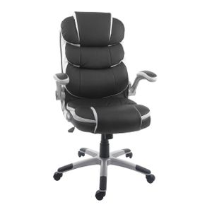 Bürostuhl HWC-F80, Schreibtischstuhl Chefsessel Drehstuhl, Kunstleder  schwarz