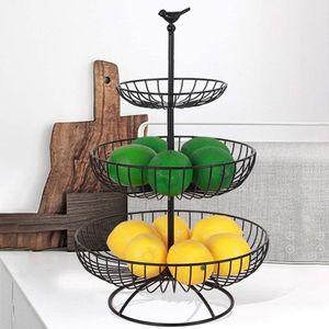 Obst Etagere-3 Schicht Obstkorb, kann mehr Platz auf dem Werkbank-Metall Obstkorb lassen