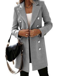 Damen Casual Blazer Langarm Formelle Bürojacke,Farbe: Grau,Größe:S