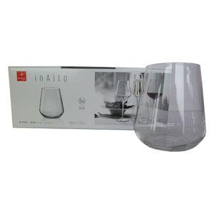 Bormioli Rocco Inalto Uno Stemless Weingläser Set - 450ml - Packung mit 6