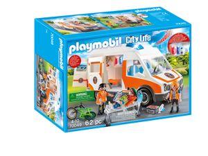PLAYMOBIL City Action 70049 Rettungswagen mit Licht und Sound