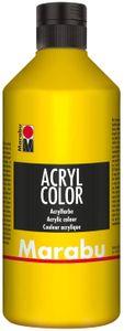 Marabu Acrylfarbe Acryl Color 500 ml gelb 019