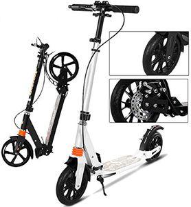 COSMOLINO Scooter – Roller Erwachsene – Roller Kinder – Mit Handbremse, Scheibenbremsen und Stoßdämpfern: Weiß